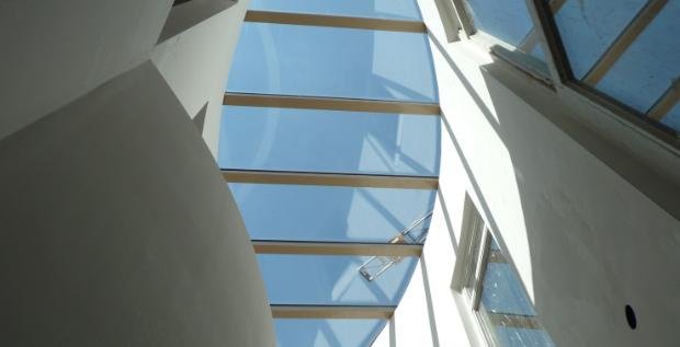 Monopitch rooflight, round